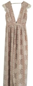 white beige blush pink Maxi Dress by The Jetset Diaries