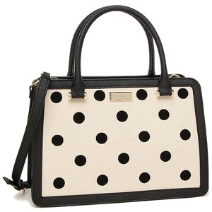 Kate Spade Satchel in BLACK/NATURAL DOT