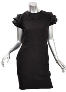 Chanel short dress BLACK Shift 08a on Tradesy