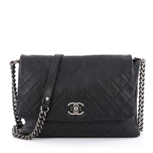 Chanel Messenger Leather Black Messenger Bag