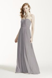 David's Bridal Mercury Polyester Versa Convertible F15782 Traditional Bridesmaid/Mob Dress Size 6 (S)