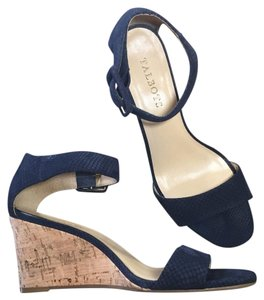 Talbots Navy Blue, Silver, Tan, Nude, Cream Wedges