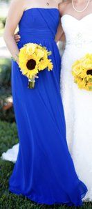 Alfred Angelo Cobalt Blue Sleeveless Long Dress Dress