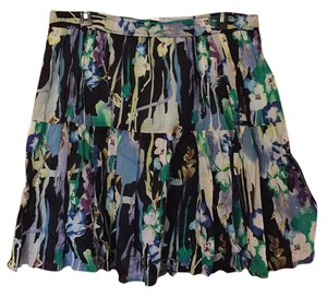 Old Navy Skirt black with blue, purple, and green floral
