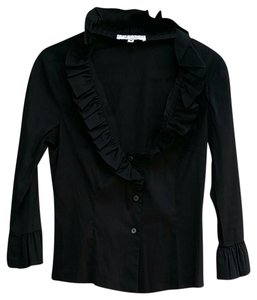 Trina Turk Button Down Shirt black