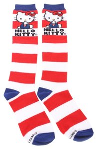 Loungefly Blue/Red Stripe Hello Kitty Socks