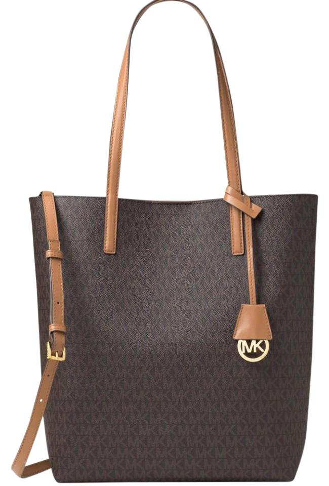 d20609d44274 MICHAEL Michael Kors Hayley Large North South Brown Tote - Tradesy