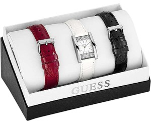 Guess Guess W0295L1 Women's Silver tone Watch with 3 Changeable Straps