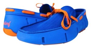 Wendorf Men's Loafers Boat Water-resistant Comfortable Blue and Orange Flats
