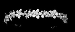 Floral Garden Pearl And Rhinestone Wedding Headband