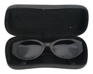 Chanel CHANEL CC Black Frames Oval Small Cat Eye Sunglasses Style #03517