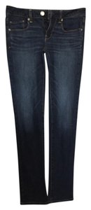 American Eagle Outfitters Blue Size 4 Skinny Jeans-Dark Rinse