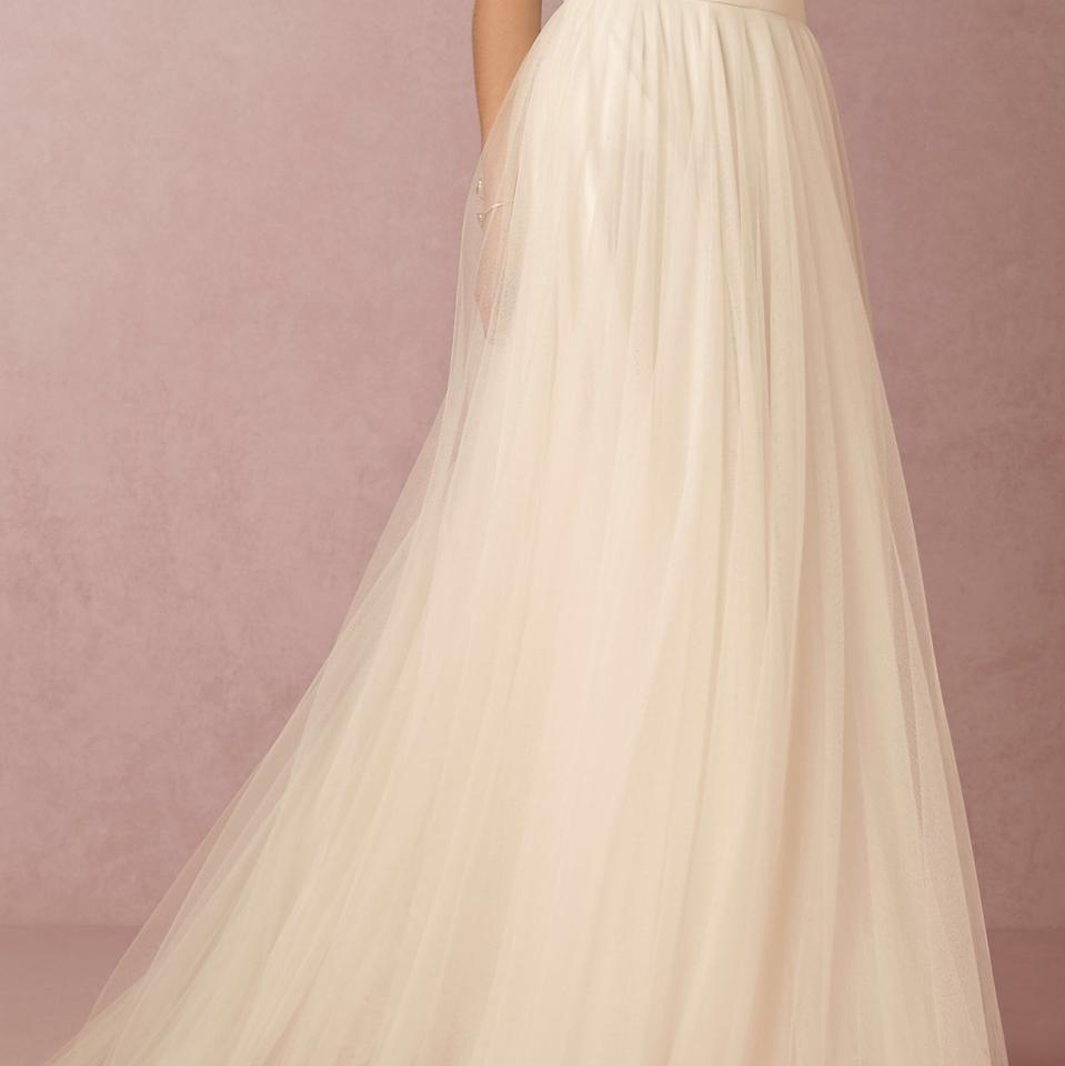 Ivory Poly-tulle; Poly-satin Lining Traditional Wedding Dress Size ...