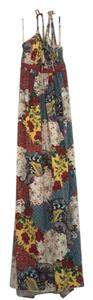 Multi/Patchwork Maxi Dress by Sky Festival Coachella Maxi Halter