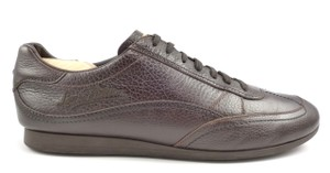 Louis Vuitton Authentic Men's Pebbled Leather Lace Up Sneakers