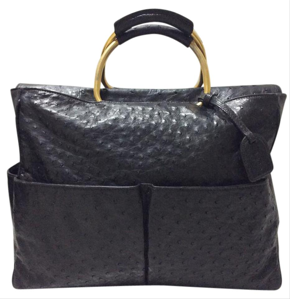 aa1b393581e Gucci Ostrich Satchel Gg Ostrich Bags Handbags Tote Image 0 ...