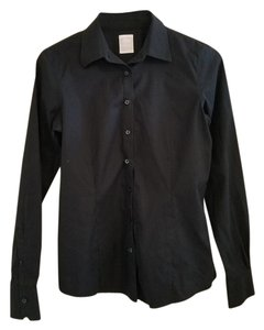 Brooks Brothers Non-iron Fitted Dress Shirt Button Down Shirt Black