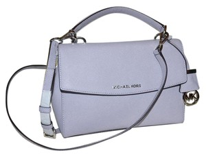 Michael Kors Ava Saffiano Leather Crossbody Satchel in Lilac