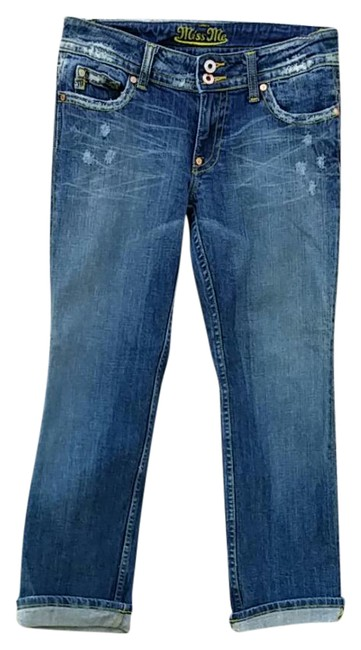 Item - Blue Distressed Lucy Capri/Cropped Jeans Size 28 (4, S)