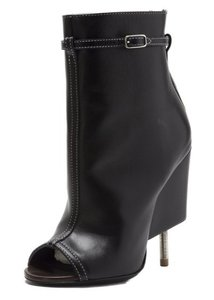 Givenchy Leather Glam Heel Black Boots