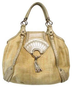 Cole Haan Straw Leather Casual Spring Hobo Bag