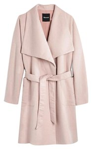 Madewell Wool Pale Pink Spring Coat Pale Cement Jacket