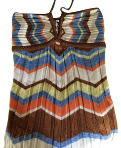 Missoni Top Brown, Blue, Cream, Orange, Yellow