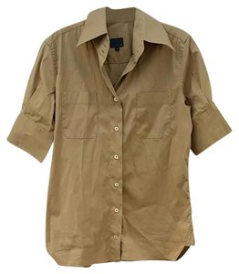 Fendi Button Down Shirt tan