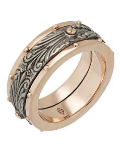 Stephen Webster Stephen Webster London calling Men's spinner ring in sterling silver
