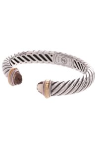 David Yurman David Yurman Sterling Silver & 18K Gold Smoky Quartz Waverly Bracelet