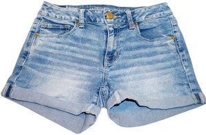 American Eagle Outfitters Junior Cuffed Shorts jeans light washed