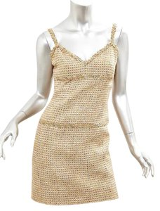 Chanel short dress GOLD Fall 2007 on Tradesy