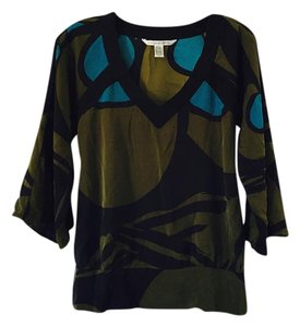 Diane von Furstenberg Top green blue