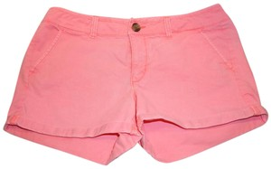 American Eagle Outfitters Junior Cuffed Shorts coral