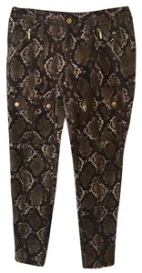 Michael Kors Skinny Pants brown animal print
