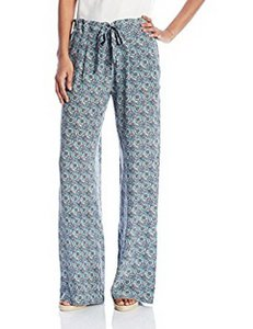 Joie All Over Print Drawstring Waist Relaxed Pants Haze Blue