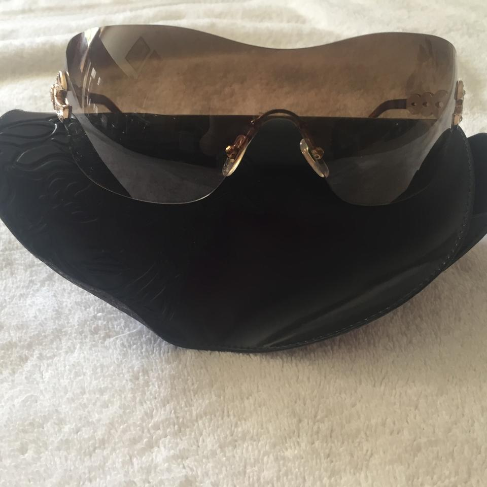 d4a4fa63a2a Versace Medusa Metal Shield Sunglasses