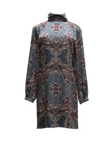 Amy Matto Unlined Knee Length Silky Feel Fabric Dress
