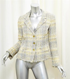 Chanel 05p Tweed Wool YELLOW Blazer