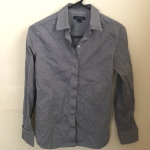 Lands' End Button Down Shirt Blue