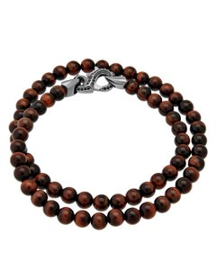 Stephen Webster Stephen Webster Thorn double wrap bracelet Bulls eye beads & black sap