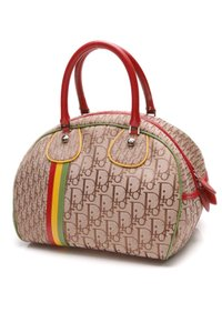 Dior Satchel in Brown, red, yellow, green