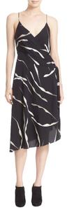 Diane von Furstenberg Asymmetrical Silk Print Dress