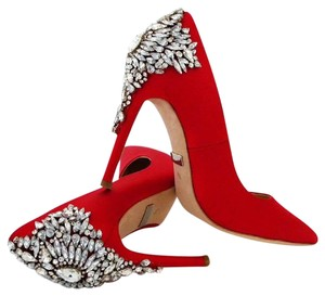 Badgley Mischka Crystal Formal Red Pumps