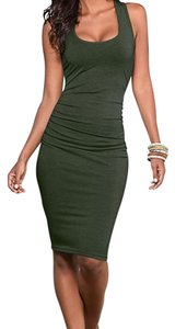 VENUS short dress Olive on Tradesy