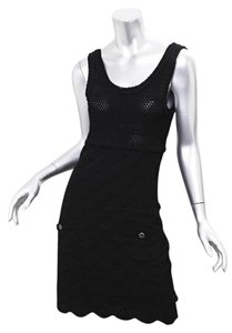 Chanel short dress BLACK Lace on Tradesy