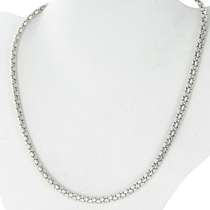 John Hardy Dot Silver Chain Necklace 4.3mm Sterling Silver 18