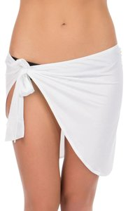 Just Cavalli New Cavalli White Beach Sarong Cover-Up Pareo One Size