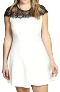 Other short dress White with Black Lace on Tradesy