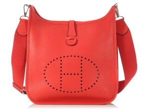 Herms Red Hr.l0317.12 Iii Pm Cross Body Bag